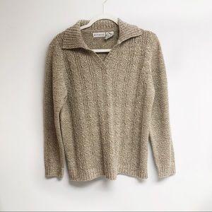 3/$25 Ladies White Stag sweater L